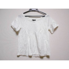 【中古】 ニジュウサンク 23区 カットソー サイズ38 M レディース 美品 白 刺繍