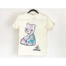 【中古】 アールエヌエー RNA 半袖Tシャツ サイズM レディース イエロー マルチ 熊