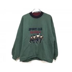 【中古】 アイスバーグ ICEBERG トレーナー サイズS メンズ グリーン ネイビー マルチ 刺繍/SPORT ICE