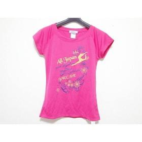 【中古】 チャコット CHACOTT 半袖Tシャツ レディース ピンク ゴールド ダークネイビー