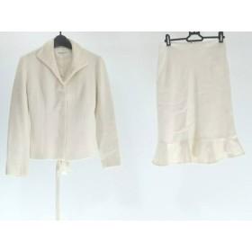 【中古】 クミキョク 組曲 KUMIKYOKU スカートスーツ サイズ2 M レディース アイボリー SIS