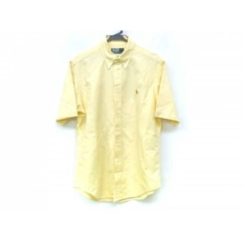 【中古】 ポロラルフローレン POLObyRalphLauren 半袖シャツ サイズM メンズ イエロー
