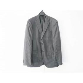 【中古】 グリーンレーベルリラクシング ジャケット サイズ48 XL メンズ 美品 ダークグレー 白