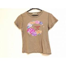 【中古】 ヴィヴィアンタム VIVIENNE TAM 半袖Tシャツ サイズ0 XS レディース ブラウン マルチ 花柄/刺繍