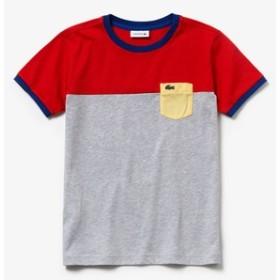 カラーブロックボーイズクルーネックTシャツ