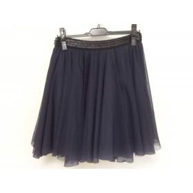 【中古】 ミュラーオブヨシオクボ スカート サイズF レディース ダークネイビー 黒 イエロー