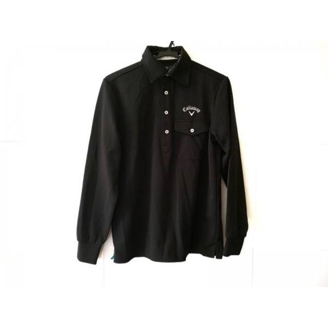 【中古】 キャロウェイ CALLAWAY 長袖ポロシャツ サイズM メンズ 黒 白