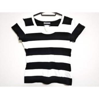 【中古】 アニエスベー agnes b 半袖Tシャツ レディース 白 黒 ボーダー