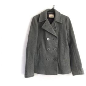 【中古】 マウジー moussy Pコート サイズ2 M レディース グレー 冬物