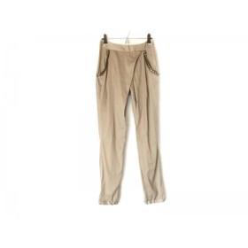 【中古】 サクラ SACRA パンツ サイズ36 S レディース ライトブラウン シルバー スタッズ/薄手