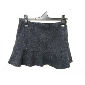【中古】 アルマーニジーンズ ミニスカート サイズEU:38USA:2 レディース ダークグレー 黒 マルチ