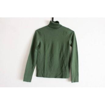 【中古】 セオリー theory 長袖セーター サイズ2 S レディース カーキ タートルネック