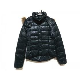 【中古】 ルシェルブルー ダウンジャケット サイズ38 M レディース ダークグリーン ファー/冬物