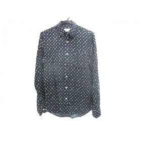 【中古】 ノーブランド 長袖シャツ サイズ37 メンズ 黒 白