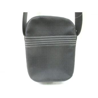 【中古】 ロエベ LOEWE ショルダーバッグ - 黒 型押し加工 PVC(塩化ビニール) レザー