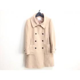 【中古】 アクアガール aquagirl コート サイズ36 S レディース ライトブラウン 冬物