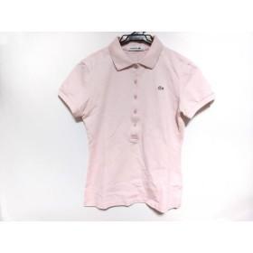 【中古】 ラコステ Lacoste 半袖ポロシャツ サイズ36 S レディース 美品 ピンク