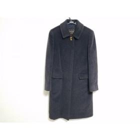 【中古】 バーバリーズ Burberry's コート サイズ7 S レディース 黒 冬物