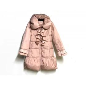【中古】 ギャラリービスコンティ ダウンコート サイズ2 M レディース 美品 ピンク 冬物/フリル
