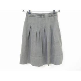【中古】 ニジュウサンク 23区 スカート サイズ38 M レディース グレー プリーツ
