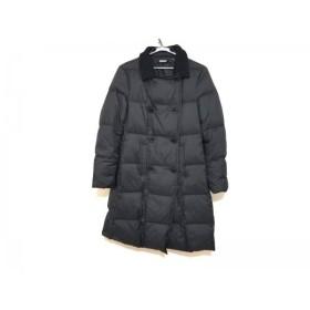【中古】 ダナキャラン DKNY ダウンコート サイズ4 XL レディース 美品 黒 冬物