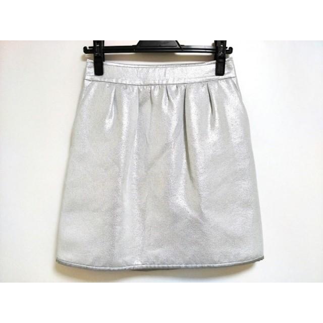 【中古】 ボディドレッシングデラックス スカート サイズ38 M レディース 美品 シルバー