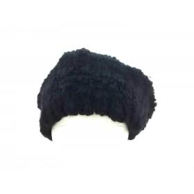 【中古】 クール COEUR 帽子 ネイビー ウール