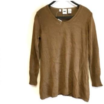 【中古】 ダナキャラン DKNY 長袖Tシャツ サイズS レディース ダークブラウン