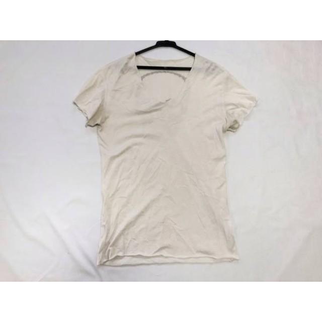 【中古】 ルシアンペラフィネ 半袖Tシャツ サイズXS メンズ 白 ダークブラウン スカル