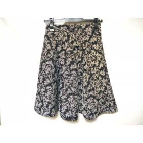 【中古】 ジャスグリッティー JUSGLITTY スカート サイズ0 XS レディース 黒 アイボリー