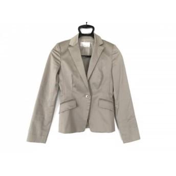 【中古】 エムプルミエ M-PREMIER ジャケット サイズ34 S レディース 美品 ライトグレー 肩パッド