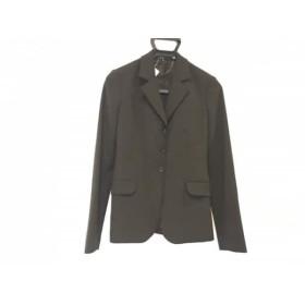 【中古】 セオリー theory ジャケット サイズ2 S レディース 黒 肩パッド