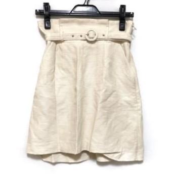 【中古】 リリーブラウン Lily Brown ミニスカート サイズ0 XS レディース アイボリー