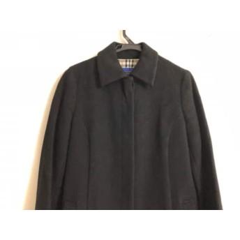 【中古】 バーバリーブルーレーベル Burberry Blue Label コート サイズ38 M レディース 黒 ロング丈/冬物