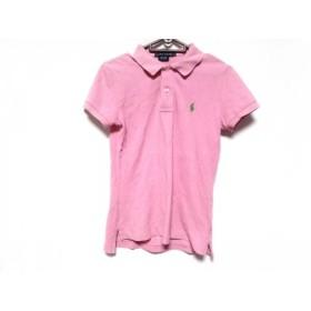【中古】 ラルフローレン RalphLauren 半袖ポロシャツ サイズS レディース ピンク