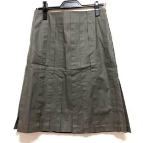 【中古】 マテリア MATERIA スカート サイズ38 M レディース カーキ プリーツ