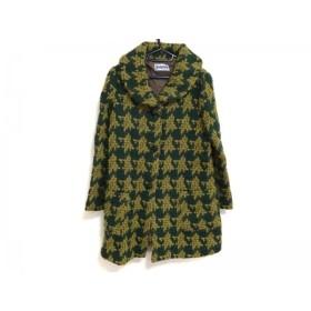 【中古】 ホコモモラ JOCOMOMOLA コート サイズ40 XL レディース 美品 グリーン イエロー 冬物/ニット