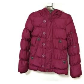 【中古】 マウジー moussy ダウンジャケット レディース ボルドー 冬物/ジップアップ/ファー