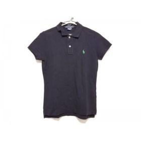 【中古】 ラルフローレン 半袖ポロシャツ サイズM レディース 美品 ダークネイビー ライトグリーン
