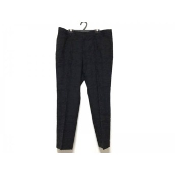 【中古】ニジュウサンク 23区 パンツ サイズ46 XL レディース 黒 刺繍 新着 20190305
