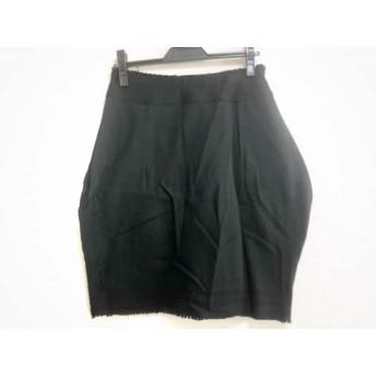 【中古】 イッセイミヤケ ISSEYMIYAKE スカート サイズ2 M レディース 美品 黒