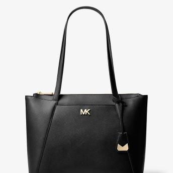 Michael Kors(マイケルコース) ウィメンズ バッグ トートバッグ MICHAEL MICHAEL KORS MADDIE ミディアム トップジップ トート ブラック NS
