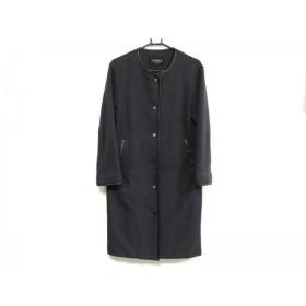 【中古】 アナカ Unaca コート サイズ38 M レディース ダークグレー 黒 ニット/春・秋物