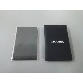 【中古】 シャネル CHANEL 小物 美品 黒 あぶらとり紙/ミラー 紙 化学繊維