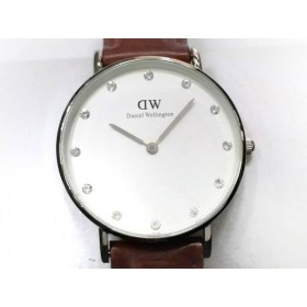 49462feac4d6 【中古】 ダニエルウェリントン Daniel Wellington 腕時計 - - レディース ラインストーン 白