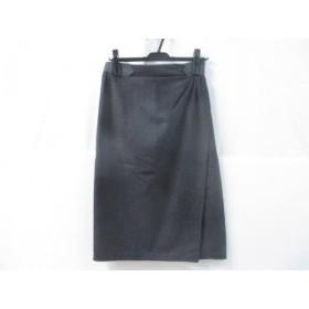 【中古】 バレンチノガラバーニ スカート サイズ10 L レディース グレー ダークグレー