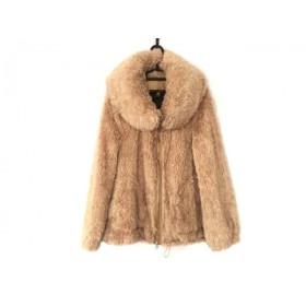 【中古】 クーラ COOLA ブルゾン サイズ38 M レディース 美品 ベージュ 冬物/COOLATIQUES