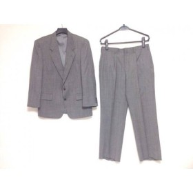 【中古】 マッシモ シングルスーツ サイズ94AB4 メンズ ダークグレー マルチ ストライプ/ネーム刺繍