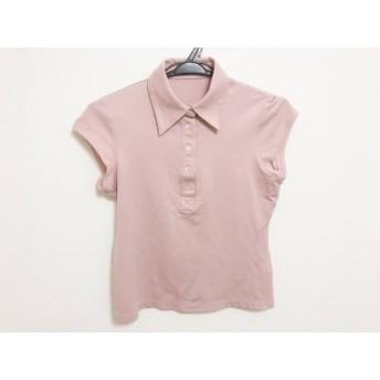 【中古】 セオリーリュクス theory luxe 半袖ポロシャツ サイズ38 M レディース 美品 ピンクベージュ