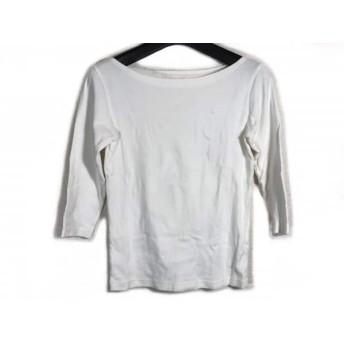 【中古】 アニエスベー agnes b 七分袖カットソー サイズ1 S レディース 白